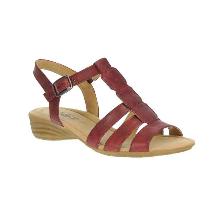 Gabor 84.558 Sandalette für Damen in rot - 84.558.55 9q3kO